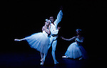 Monica Perego, Nathan Coppen and Amanda Armstrong in English National Ballet's production of Etudes