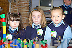 Settling into their first day in St Oliver's National school on Monday were Amy Healy, Ellen Moloney and Gabriella.   Copyright Kerry's Eye 2008