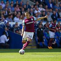 John Terry of Aston Villa during the Sky Bet Championship match between Cardiff City and Aston Villa at the Cardiff City Stadium, Cardiff, Wales on 12 August 2017. Photo by Mark  Hawkins / PRiME Media Images.