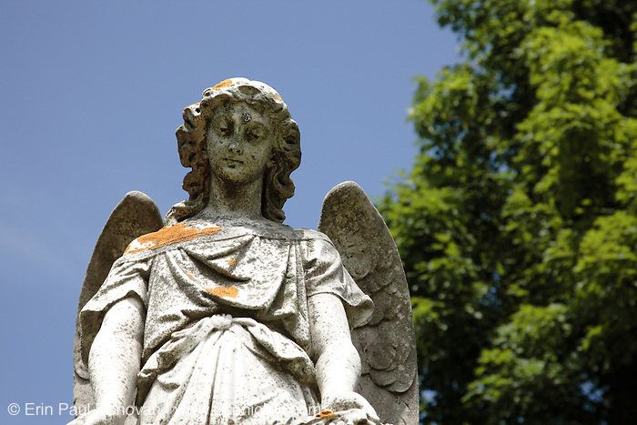 Greenwood Cemetery during the summer months. Located in  Stratham, New Hampshire