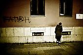 Mostar 11.12.2009 Bosnia and Herzegovina<br /> BiH is a country of slogans and subtitles. Despite the agreement among nationalities, can see many slogans that are not bear witness of this. Here, the word FATAH which means Fight, written by Bosnians.<br /> Bosnia and Herzegovina for many years dreamed to be adopted into the European Union. On the streets, everybody can see young and old people who looks like Europeans. Streets in the city center are also similar to European cities. Unfortunately, all people in BiH know that political disagreement between warring nationalities in the parliament does not help them to be accepted into the EU.<br /> Photo: Adam Lach / Newsweek Polska / Napo Images<br /> <br /> BiH to kraj hasel i napisow. mimo zgody miedzy narodowosciami widac wiele napisow ktore nie do konca o tym swiadcza. Tutaj napis Fatah co znaczy Walka napisany przez bosniakow.<br /> BiH od wielu lat marzy by przyjeto ja do UE. NA ulicach widac mlodych i starszych ludzi ktory wygladaja jak europejczycy. Ulice w centrum miasta sa rownie podobne do miast europejskich. Niestety wewnetrznie wszyscy wiedza ze polityczna niezgoda pomiedzy zwasnionymi narodowosciami w parlamencie nie pomaga im na to by przystapic do UE.<br /> Photo: Adam Lach /  Newsweek Polska / Napo Images