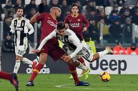 Steven Nzonzi of AS Roma and Paulo Dybala of Juventus compete for the ball during the Serie A 2018/2019 football match between Juventus and AS Roma at Allianz Stadium, Roma, December 22, 2018 <br /> Foto OneNine / Insidefoto