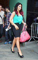 June 20, 2012 Jenni 'JWOWW' Farley at Good Morning America to talk about the Jersey Shore MTV spin-off show with Snooki and JWoww  in New York City. © RW/MediaPunch Inc. NORTEPHOTO<br />