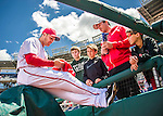 15 May 2016: Washington Nationals outfielder Chris Heisey signs autographs prior to a game against the Miami Marlins at Nationals Park in Washington, DC. The Marlins defeated the Nationals 5-1 in the final game of their 4-game series.  Mandatory Credit: Ed Wolfstein Photo *** RAW (NEF) Image File Available ***