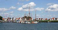 Nederland Amsterdam Durgerdam 2019. Dijkhuizen in Durgerdam.  Boten in de haven. Foto Berlinda van Dam / Hollandse Hoogte