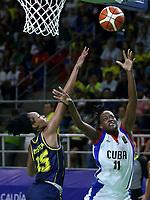 BARRANQUILLA - COLOMBIA, 23-07-2018: Colombia y Cuba durante partido de final en la modalidad de Baloncesto femenino como parte de los Juegos Centroamericanos y del Caribe Barranquilla 2018. /  Colomba and Cuba during final match of women's Basketball as a part of the Central American and Caribbean Sports Games Barranquilla 2018. Photo: VizzorImage / Cont
