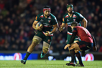 Sione Kalamafoni of Leicester Tigers in possession. European Rugby Champions Cup match, between Leicester Tigers and Munster Rugby on December 17, 2017 at Welford Road in Leicester, England. Photo by: Patrick Khachfe / JMP
