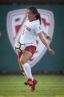 STANFORD, CA - September 7, 2018: Michelle Xiao at Laird Q. Cagan Stadium. The Stanford Cardinal defeated Notre Dame 3-1.
