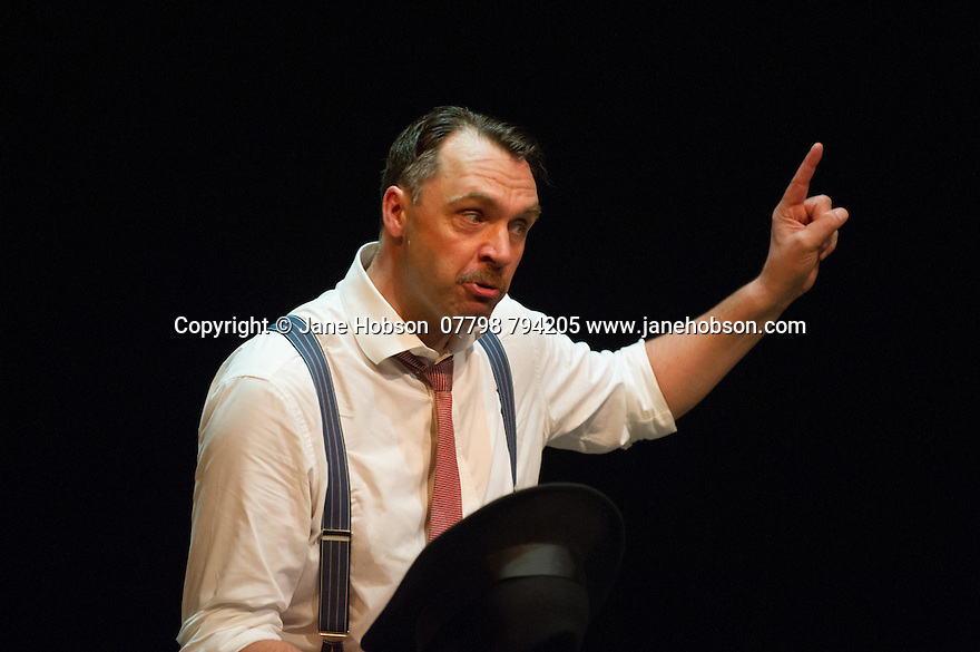 London, UK. 18.07.2014. Mountview Academy of Theatre Arts presents SATURDAY, SUNDAY, MONDAY by Eduardo de Filippo, the English adaptation by Keith Waterhouse & Willis Hall, directed by Michael Howcroft, at the Unicorn Theatre, as part of the Postgraduate Season 2014. Picture shows:  Adam Radcliffe (Peppino). Photograph © Jane Hobson.