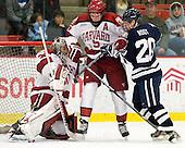 Raphael Girard (Harvard - 30), Dan Ford (Harvard - 5), Jesse Root (Yale - 20) - The Yale University Bulldogs defeated the Harvard University Crimson 5-1 on Saturday, November 3, 2012, at Bright Hockey Center in Boston, Massachusetts.