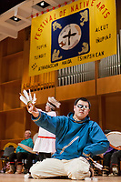 The Yupik Miracle Drummers and Dancers perform at the 2009 Festival of Native Arts, Fairbanks, Alaska.  The group are tradition bearers from the Yupik culture and have been performing together since 1994, promoting drug and alcohol free communities. The festival is one of interior Alaska's greatest celebrations of Alaska Native culture.