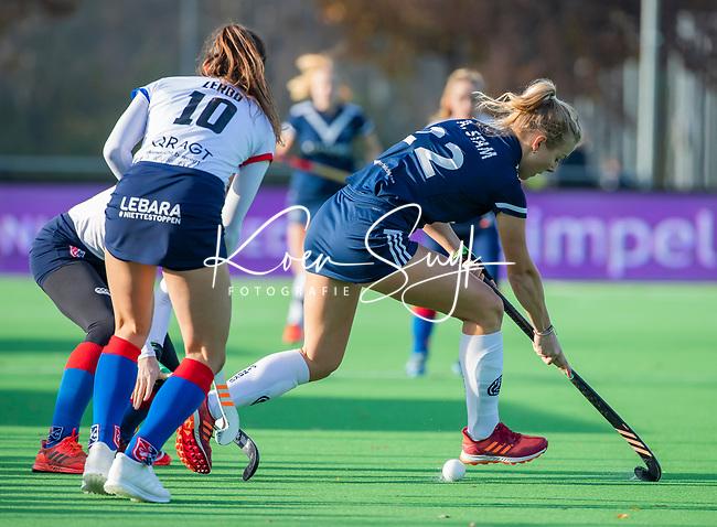 AMSTELVEEN - Anouk Stam (Pinoke) tijdens de competitie hoofdklasse hockeywedstrijd dames, Pinoke-SCHC (1-8) . COPYRIGHT KOEN SUYK