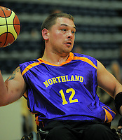 Northland's Jamie Tapp. Auckland A v Northland Te Raki Trouper - 2010 Wheelchair Basketball National Championships at Te Rauparaha Arena, Porirua. Friday, 117 September 2010. Photo: Dave Lintott/lintottphoto.co.nz