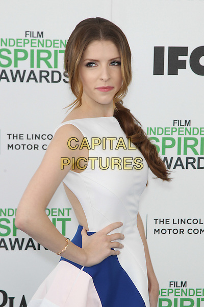 SANTA MONICA, CA - MARCH 1: Anna Kendrick attending the 2014 Film Independent Spirit Awards in Santa Monica, California on March 1st, 2014. Photo Credit: RTNUPA/MediaPunch<br /> CAP/MPI/RTNUPA<br /> &copy;RTNUPA/MediaPunch/Capital Pictures