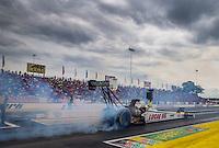 Jun 6, 2015; Englishtown, NJ, USA; NHRA top fuel driver Richie Crampton during qualifying for the Summernationals at Old Bridge Township Raceway Park. Mandatory Credit: Mark J. Rebilas-