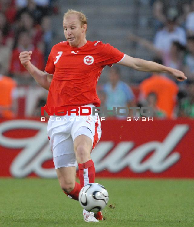 FIFA WM 2006 -  Round of Sixteen - / Viertelfinale <br /> Play    #54  (26. Juni ) Schweiz - Ukraine<br /> <br /> Ludovic Magnin (SUI)<br /> <br /> Foto &copy; nordphoto