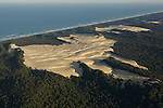 aerial view of sandblow, fraser island