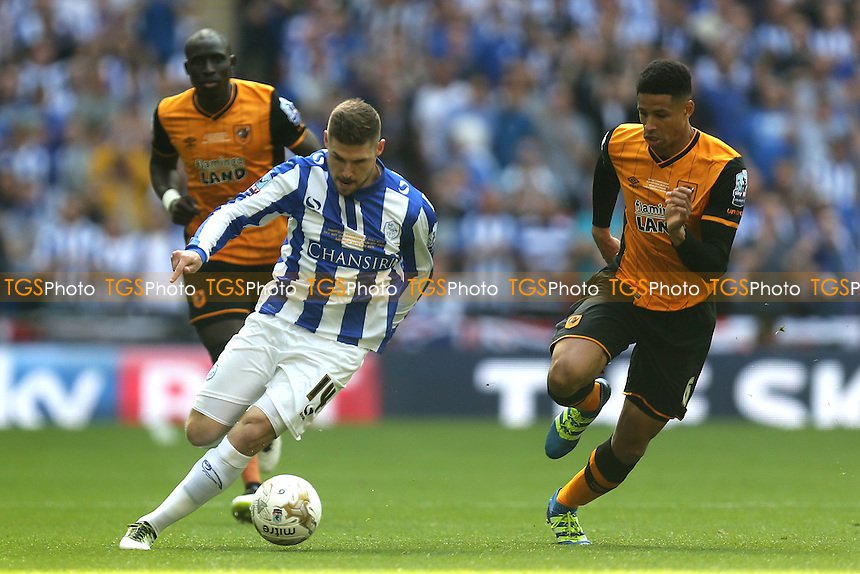 Gary Hooper of Sheffield Wednesday and Curtis Davies of Hull City during Hull City vs Sheffield Wednesday, Sky Bet Championship Play-Off Final Football at Wembley Stadium on 28th May 2016