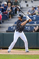 Everett AquaSox catcher Marcus Littlewood #24 at bat during a game against the Spokane Indians at Everett Memorial Stadium on June 24, 2012 in Everett, WA.  Spokane defeated Everett 11-2.  (Ronnie Allen/Four Seam Images)