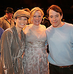Kelli O'Hara, Kathleen Marshall & Matthew Broderick.during the Broadway Opening Night Gypsy Robe Ceremony honoring Cameron Adams in 'Nice Work If You Can Get It' at the ImperialTheatre on 4/24/2012 in New York City.