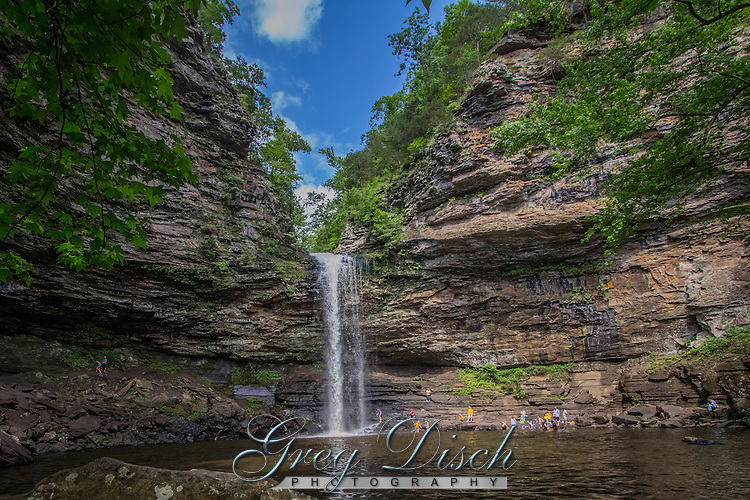 Cedar Falls is a spectacular 94 foot waterfall in Petit jean State Park near Morrilton Arkansas.  Cedar Falls is one of the tallest continuously flowing waterfalls in the state.