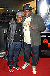 Cedric The Entertainer and son arriving at 'A Haunted House 2 Los Angeles Premiere' held at Regal Cinemas L.A. Live Los Angeles, CA. April 16, 2014.