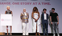 "LOS ANGELES, CA- Trudie Styler, James St. James, Lavern Cox, Alex Lawther, Ian Nelson, At 2017 Outfest Los Angeles LGBT Film Festival - Closing Night Gala Screening Of ""Freak Show"" at The Theatre at Ace Hotel, California on July 16, 2017. Credit: Faye Sadou/MediaPunch"