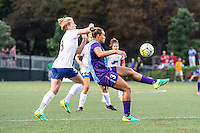 Allston, MA - Sunday July 31, 2016: Natasha Dowie, Toni Pressley during a regular season National Women's Soccer League (NWSL) match between the Boston Breakers and the Orlando Pride at Jordan Field.