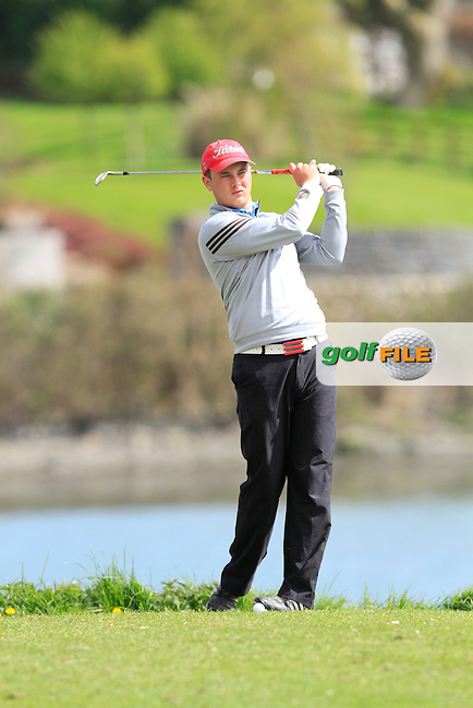 Jack Blake (Forrest Little) on the 13th during Day 2 of The Munster Youths' Amateur Open Championship in Dungarvan Golf Club on Thursday 24th April 2014.<br /> Picture:  Thos Caffrey / www.golffile.ie