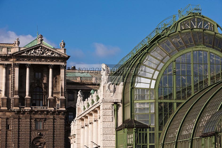Europe/Autriche/Niederösterreich/Vienne: -Détail des serres  construites par  l'architecte Jugendstil Fiedrich Ohmann dans le Burggarten   dans le quartier de Hofburg- -Centre Historique, Patrimoine mondial UNESCO