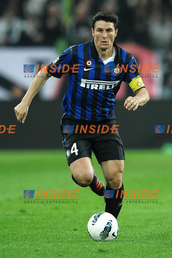 "Javier Zanetti Inter.Torino 25/3/2012 Stadio ""Juventus Stadium"".Football Calcio 2011/2012 Campionato Italiano Serie A.Juventus Vs Inter.Foto Insidefoto Andrea Staccioli"