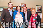 Baby Darragh Patrick Sheehy with his parents Triona & PJ Sheehy, Bedford, Listowel and godparents Cathal Dalton & Geraldine Sheehy who was christened in St.Mary's Church, Listowel by Canon Declan O'Connor & Fr.Joe Tarrant and afterwards at the Kingdom Bar, Listowel