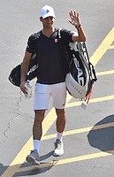 KEY BISCAYNE, FL - MARCH 31: (EXCLUSIVE COVERAGE) Novak Djokovic of Serbia arrives day 9 of the Miami Open at Crandon Park Tennis Center on March 31, 2015 in Key Biscayne, Florida<br /> <br /> <br /> People:  Novak Djokovic<br /> <br /> Transmission Ref:  FLXX<br /> <br /> Must call if interested<br /> Michael Storms<br /> Storms Media Group Inc.<br /> 305-632-3400 - Cell<br /> 305-513-5783 - Fax<br /> MikeStorm@aol.com