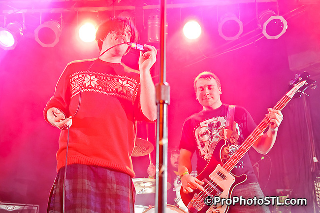 I Have a Bomb band performing at The Christmahanakwanzika Party at Pop's in Sauget, IL on Dec 28, 2011.