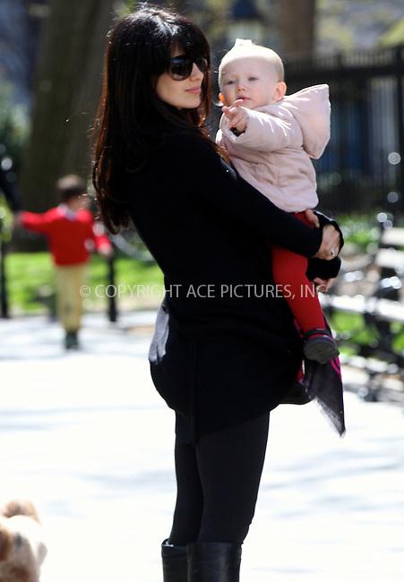 WWW.ACEPIXS.COM<br /> <br /> April 26 2015, New York City<br /> <br /> Hilaria Baldwin takes her daughter Carmen out to a park on April 26 2015 in New York City<br /> <br /> By Line: Nancy Rivera/ACE Pictures<br /> <br /> <br /> ACE Pictures, Inc.<br /> tel: 646 769 0430<br /> Email: info@acepixs.com<br /> www.acepixs.com