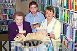 BOOKS: Castleisland Librarians Kitty Downey, Eamonn Browne and Lucy Kerins, getting their books ready for transfer to the new library in Castleisland on Wednesday.   Copyright Kerry's Eye 2008