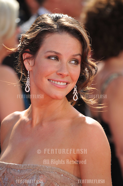 Evangeline Lilly at the 2008 Primetime Emmy Awards at the Nokia Live Theatre. .September 21, 2008  Los Angeles, CA..Picture: Paul Smith / Featureflash