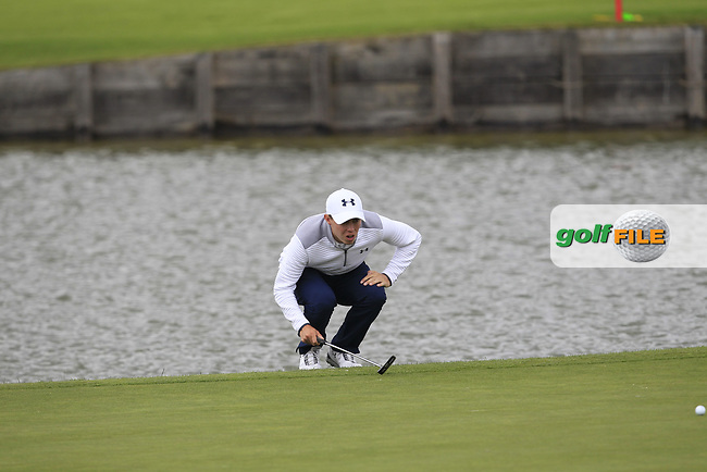 Matthew Fitzpatrick (ENG) on the 2nd green during Round 2 of the HNA Open De France  at The Golf National on Friday 30th June 2017.<br /> Photo: Golffile / Thos Caffrey.<br /> <br /> All photo usage must carry mandatory copyright credit      (&copy; Golffile | Thos Caffrey)