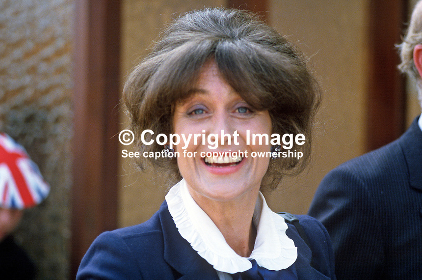 Lady Georgina Mary O'Neill, wife of Lord O'Neill, 4th Baron, Shane's Castle, Antrim, N Ireland, UK, 19840070GMON2.<br />
