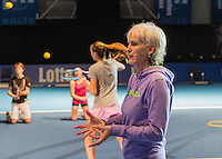 Rotterdam, Netherlands, December 16,  2016, Topsportcentrum,  Coaches Congress , Judy Murray gives a coaching session.<br /> Photo: Tennisimages/Henk Koster