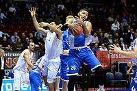 GRONINGEN - Basketbal, Donar - Landstede Zwolle, Supercup seizoen 2017-2018, 05-10-2017, Donar speler Sean Cunningham met Landstede speler Franko House