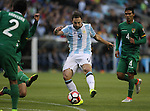 Argentina Bolivia in a 2016 Copa America Centenario soccer match at CenturyLink Field in Seattle, Washington on June 14, 2016.   Argentina beat Bolivia 3-0.  ©2016.  Jim Bryant Photo. All Rights reserved