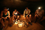 BELIZE - SEPTEMBER 12, 2007:  Mayan artifacts during the cave tubing tour at Ian Anderson's Cave Branch on September 12, 2007 in Belize.  (PHOTOGRAPH BY MICHAEL NAGLE)