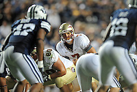Sept. 19, 2009; Provo, UT, USA; Florida State Seminoles quarterback (7) Christian Ponder prepares to take the snap in the second half against the BYU Cougars at LaVell Edwards Stadium. Florida State defeated BYU 54-28. Mandatory Credit: Mark J. Rebilas-