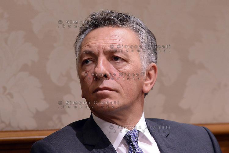 Roma 29 Luglio 2015.<br /> Pietro Langella.<br /> Conferenza stampa in senato per la presentazione del nuovo gruppo Alleanza Liberalpopolare-Autonomie, ALA.