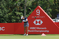 Marina Alex (USA) in action on the 9th during Round 3 of the HSBC Womens Champions 2018 at Sentosa Golf Club on the Saturday 3rd March 2018.<br /> Picture:  Thos Caffrey / www.golffile.ie<br /> <br /> All photo usage must carry mandatory copyright credit (&copy; Golffile | Thos Caffrey)