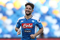 Dries Mertens of Napoli celebrates after scoring a goal during the Serie A football match between SSC  Napoli and SPAL at stadio San Paolo in Naples ( Italy ), June 28th, 2020. Play resumes behind closed doors following the outbreak of the coronavirus disease. <br /> Photo Cesare Purini / Insidefoto