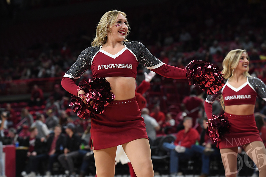NWA Democrat-Gazette/J.T. WAMPLER Image from Arkansas' win over Montana State Wednesday Nov. 21, 2018 at Bud Walton Arena in Fayetteville.