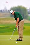29 August 2009: Steve Marino putts during the third round of The Barclays PGA Playoffs at Liberty National Golf Course in Jersey City, New Jersey.