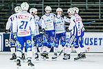 Uppsala 2014-11-15 Bandy Elitserien IK Sirius - IFK V&auml;nersborg :  <br /> V&auml;nersborgs Christoffer Fagerstr&ouml;m firar sitt 2-6 m&aring;l med lagkamrater under matchen mellan IK Sirius och IFK V&auml;nersborg <br /> (Foto: Kenta J&ouml;nsson) Nyckelord:  Bandy Elitserien Uppsala Studenternas IP IK Sirius IKS IFK V&auml;nersborg  jubel gl&auml;dje lycka glad happy